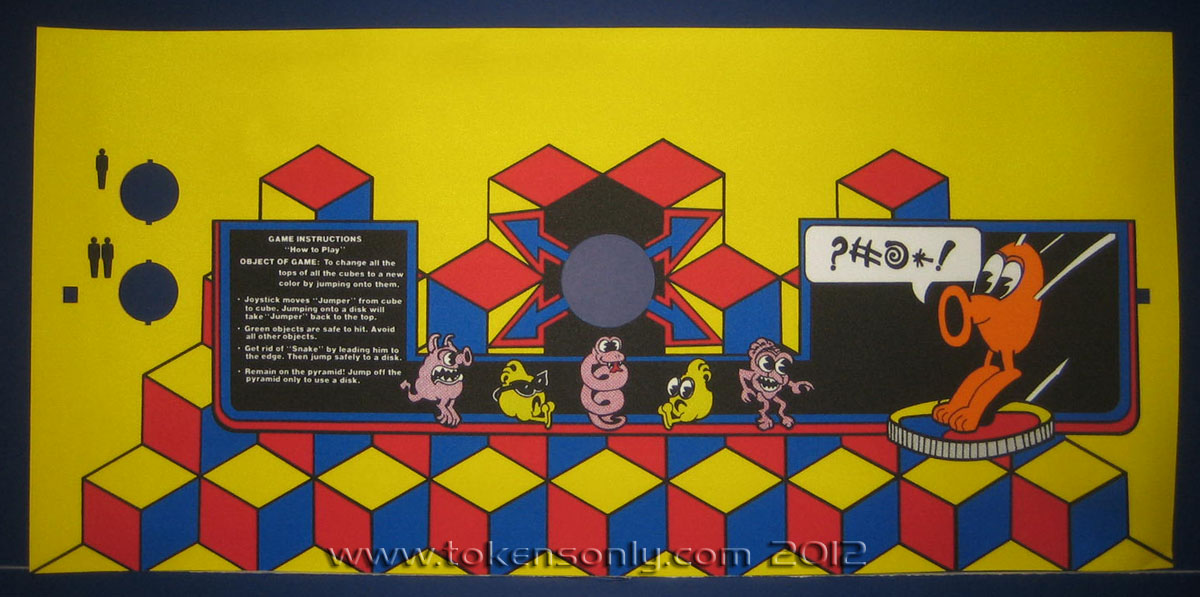 Q*bert bootleg artwork added, only took two years! - Tokens Only