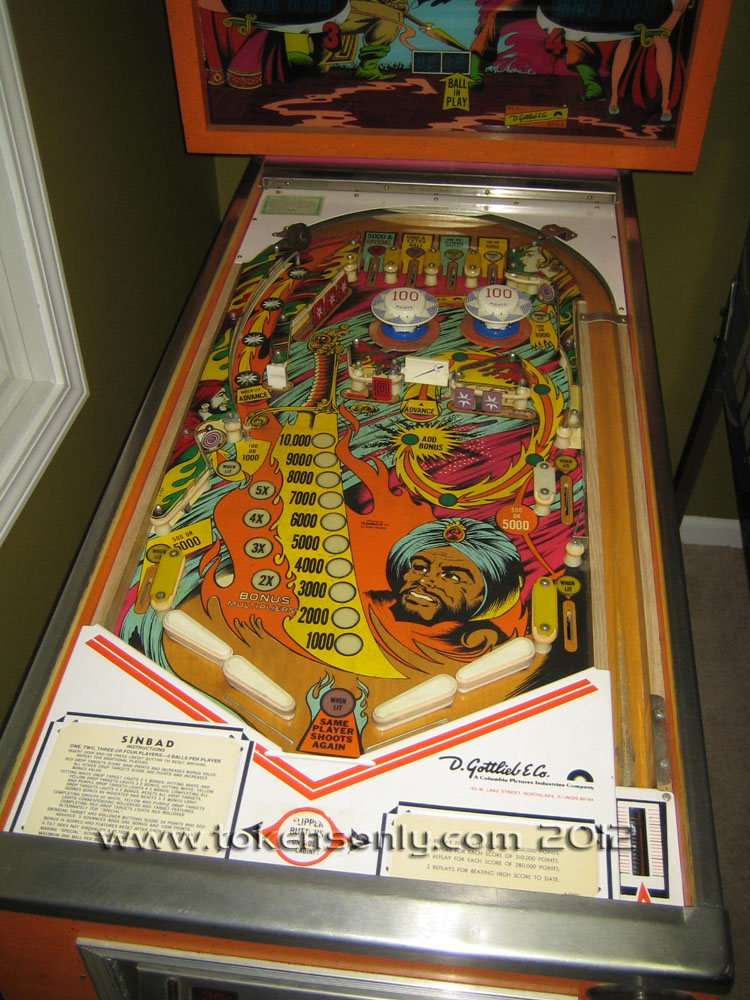 sinbad pinball machine
